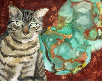 Cat and Geode