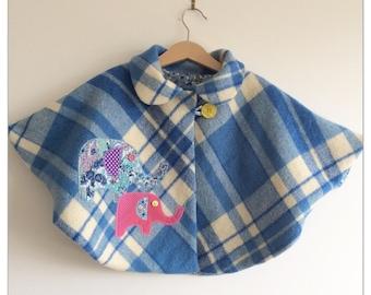 """Girls toddler baby """"Beautiful Blue Elle"""" cape coat cloak"""
