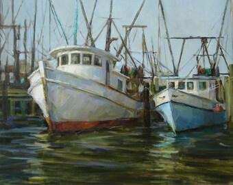 5x7 Blank Greeting Cards-'Trawlers'