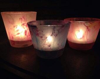 Handpainted candle votives