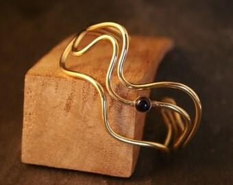 Bronze Bracelet with Sapphire