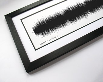 I Can't Help Myself (Sugar Pie Honey Bunch) - Music Art Sound wave Print - Song Lyric Art, Band Poster