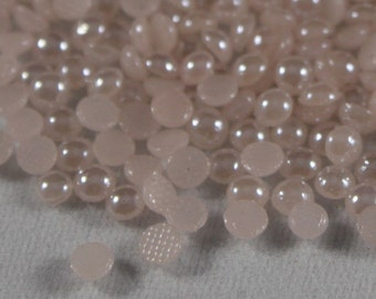 Blush  Hotfix Pearl-25 gross-wholesale pricing-ceramic hotfix pearls