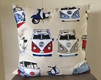 "VW Camper Van Cushion Cover - 18"""