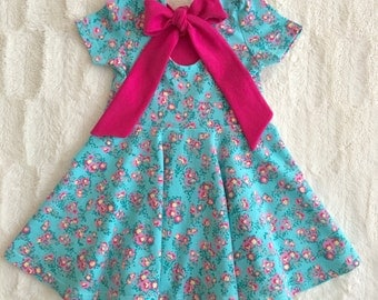 Floral twirl dress//baby//girls//floral