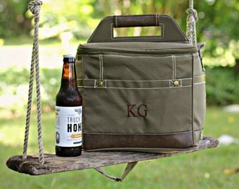 Insulated Cooler w/ Removable Beer Dividers - Valentines Day - Personalized Gift - Beer Cooler -Insulated Beverage Bag - Gifts for Him