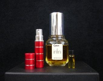 Vintage, Niche, Rare, Old Perfume Sample, Infini By Caron Parfum De Cologne, sample, glass vial, spray, old formula, discontinued