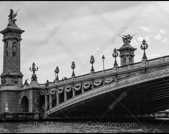 Black and White, Paris Photography, Paris France Photography , Fine Art Photography, Paris Pictures, Pont Alexandre III Bridge, Rive Seine
