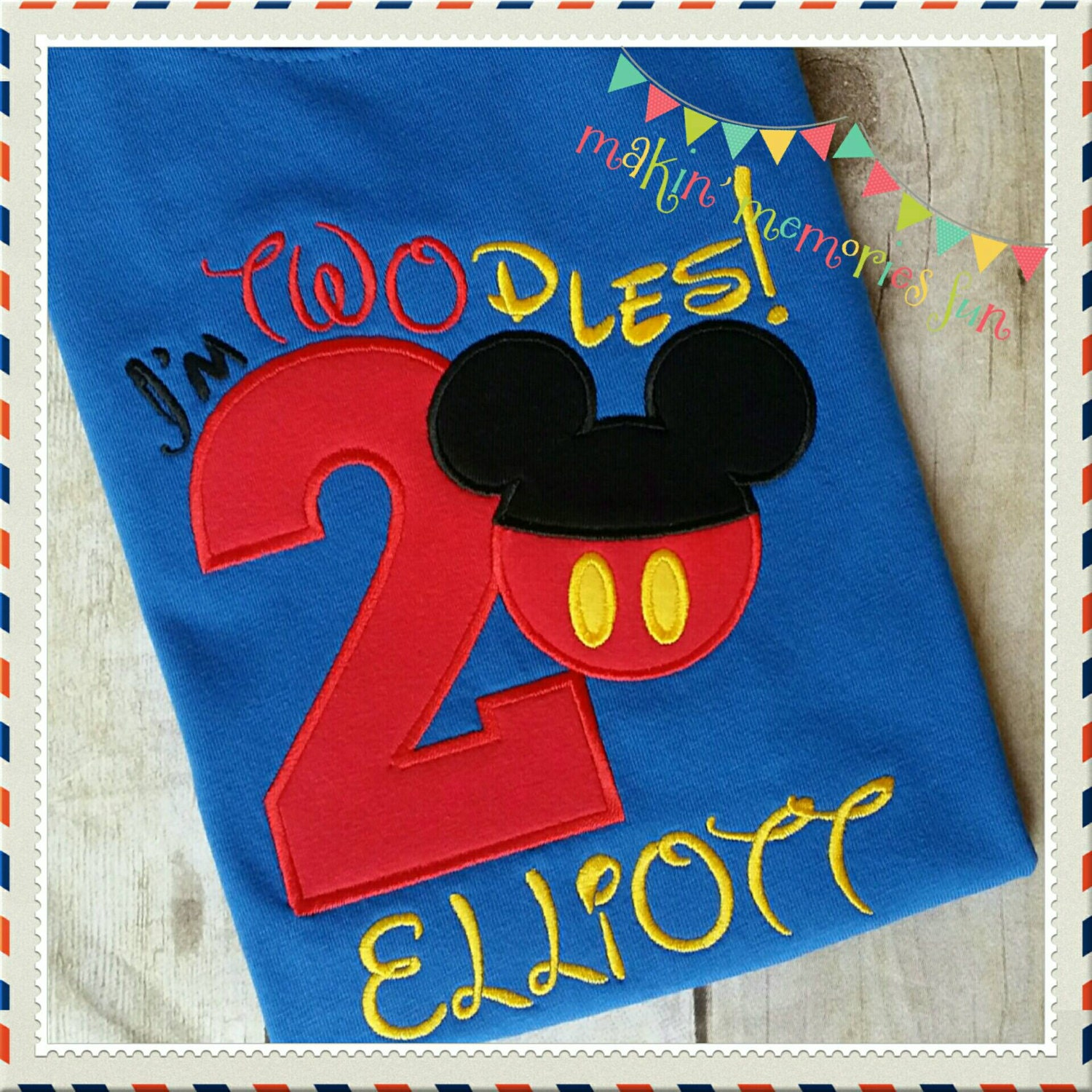 Mickey Mouse Birthday Applique T Shirt I 39 M Twodles 2nd
