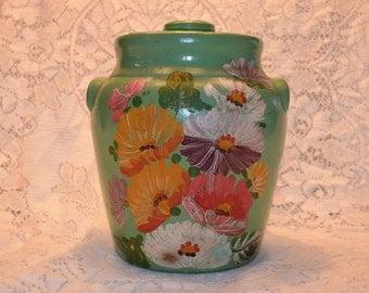 Hand Painted Cookie Jar