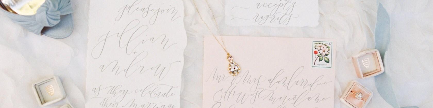 Bespoke Wedding Invitations Calligraphy By Dovehousehandmade