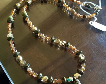 Cowgirl boot beaded necklace