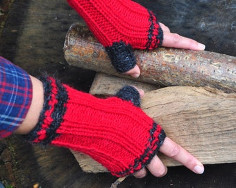 handknitted mittens, gloves