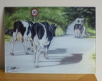 Friesian Cow Chopping Board / Worktop Saver