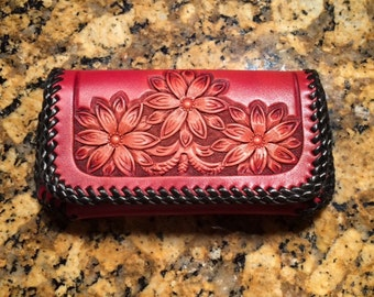 Hand Tooled Leather Phone Case