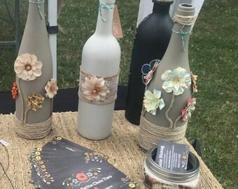 Garden Dreams Wine Bottle