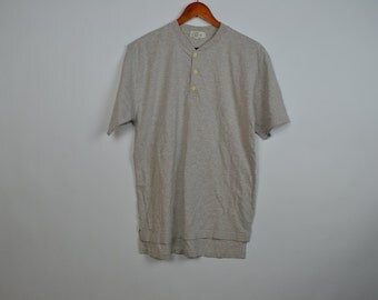 Oatmeal Colored Henley T-Shirt