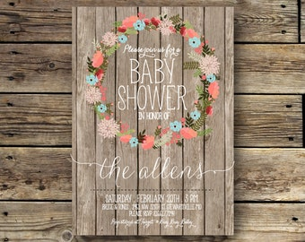 Printable Baby or Bridal Shower Invitation