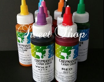 8 Pcs. Chefmaster Candy Color