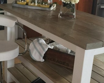 Rustic Farmhouse Style Island/Bar flat rate shipping!