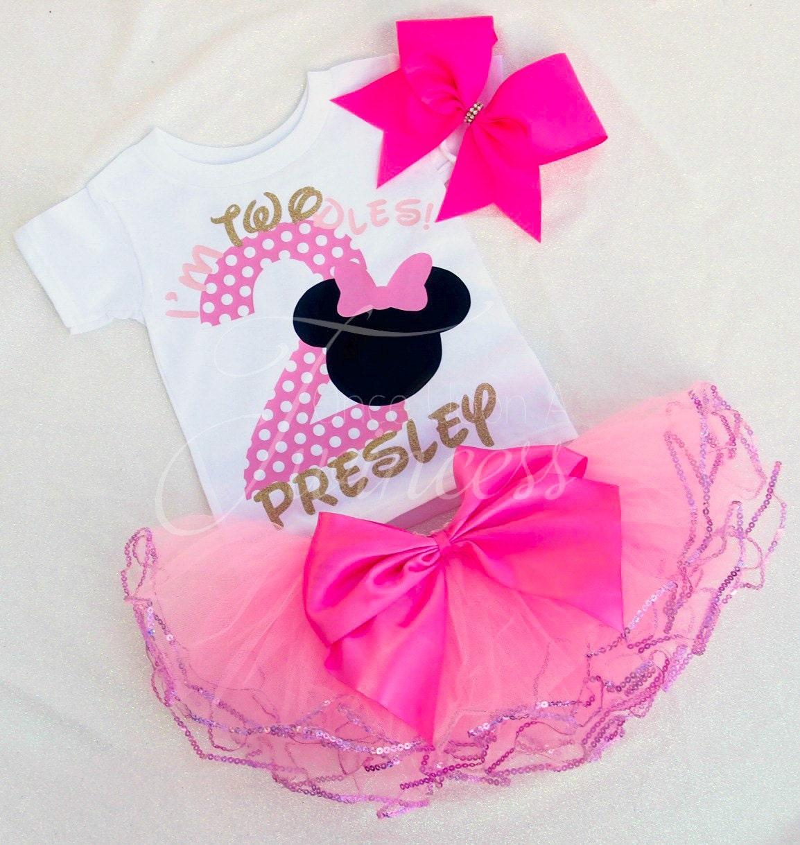 I'm Twodles Birthday Set Minnie Mouse 2nd Birthday
