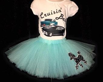Cruisin' Babe Tutu Outfit | Tutu Outfits | Old Cars | Classic Cars | Cruisin Shirt | Custom Outfits | Poodle Skirt | Poodle Tutu | Tutus