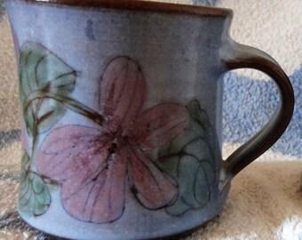 Vintage Flower Pottery Mug/England