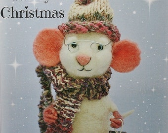 Mouse Christmas Card - Original art greeting card - Seasonal greeting cards - mouse greeting card