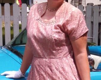 1940s Plus Size Party Dress Size 18