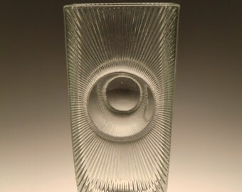 Czech Bohemian Sklo Union Teplice Art Glass Vase by Rudolf Jurnikl
