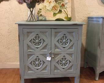 "Beachy/Cottage Style Cabinet ""FREE SHIPPING"""