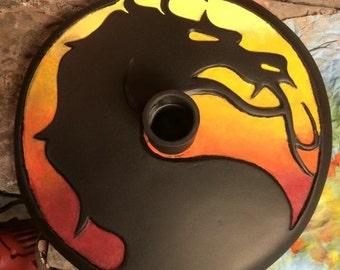 Mortal kombat dragon helmet stand