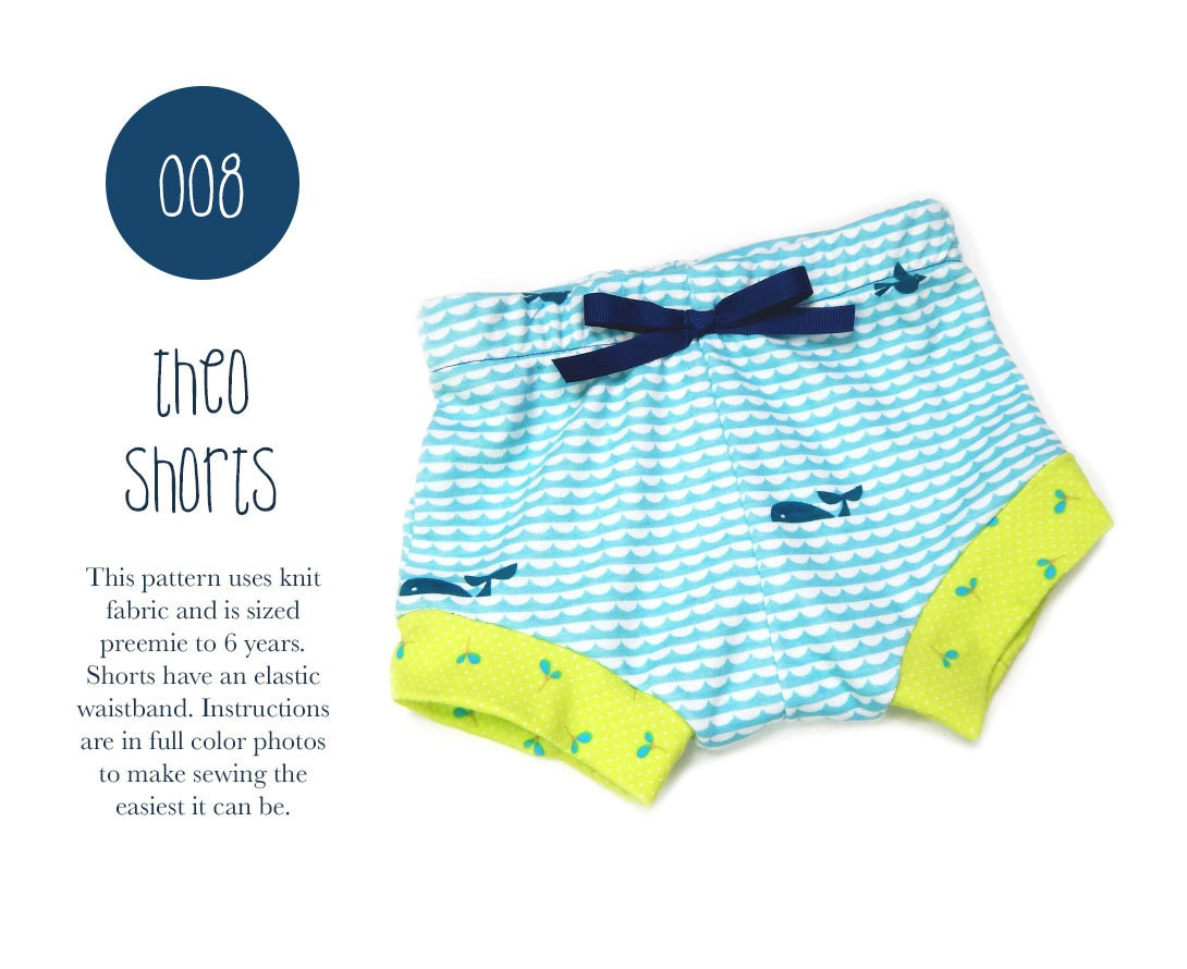 008 theo shorts pdf sewing pattern baby boy girl kid knit zoom bankloansurffo Gallery