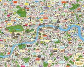 Limited edition  A1- The illustrated map of London 2nd edition