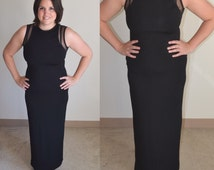 Vintage Spandex & Shear Maxi Dress