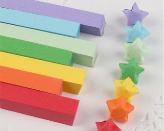 7 rainbow colors total 630 pcs Origami Star Paper Kit  Lucky Wishing Star paper strips star paper set DIY Valentine gift-Christmas gift