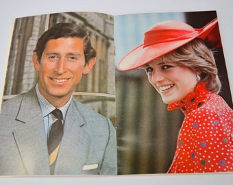 1981 Royal Wedding Official Programme Prince of Wales Princess Diana Charles & Lady Diana Spencer Vintage Souvenir Commemorative Ephemera