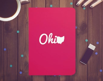Ohio Red Journal Notebook Sketchbook