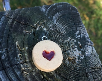 Polymer Clay Linzer Tart Charm (made to order)