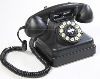 Very Cool Retro Vintage Phone, Black