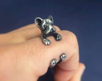 Ring - dog mettalic Silver: Unisex