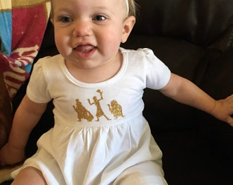 Custom ghoulish Haunted Mansion inspired ghost dress for infant girls