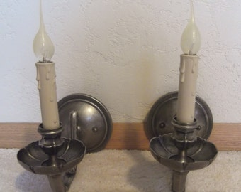 Metal Candle Wall Sconces