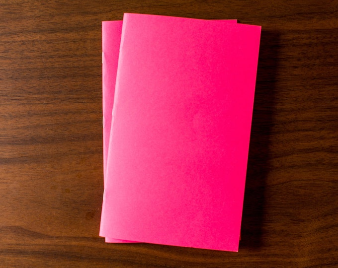 Pink Notebooks - 2 Pack Journal, Planner, Journal Insert, Planner Insert Mini Diaries, Jotters, Blank Books, Paper Notebook, bulk