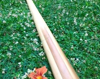 Reclaimed Poplar Slat didgeridoo - Tuned to E flat 432Hz