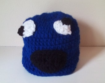 Cookie monster hat, baby cookie monster, newborn cookie monster hat, cookie hat, Crochet cookie hat, ready to ship