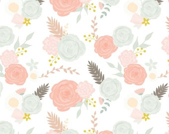 Changing Pad Cover- Summer Floral on White. Changing Pad. Changing Pad Cover. Floral Changing Pad Cover. Girl Changing Pad Cover