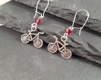 Bike earrings - cycling gift - sport gift - cyclist gift - cycling earrings - bike jewellery - sport earrings - coach gift - stocking filler