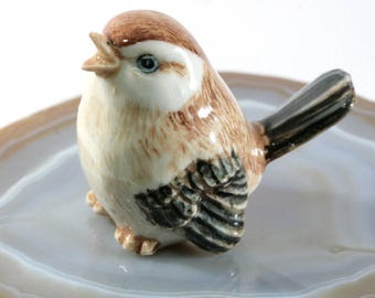 Sparrow - handpainted porcelain figurine -2428