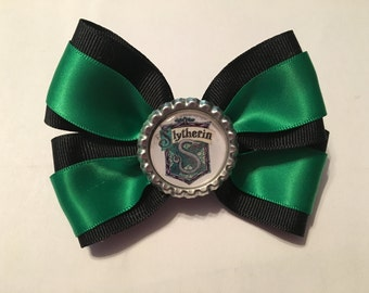 Slytherin Harry Potter house hair bow